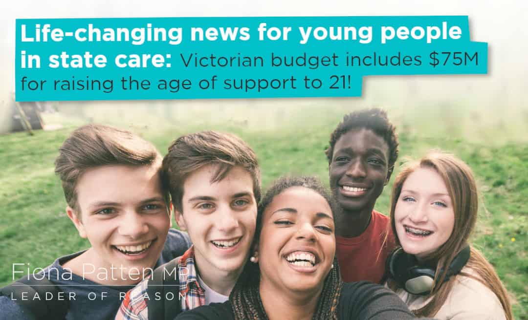Age of leaving foster care will be 21 from 1st Jan, 2021 in Victoria